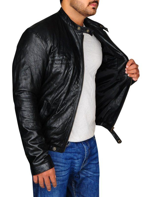 Zac Efron 17 Again Black Leather Jacket side
