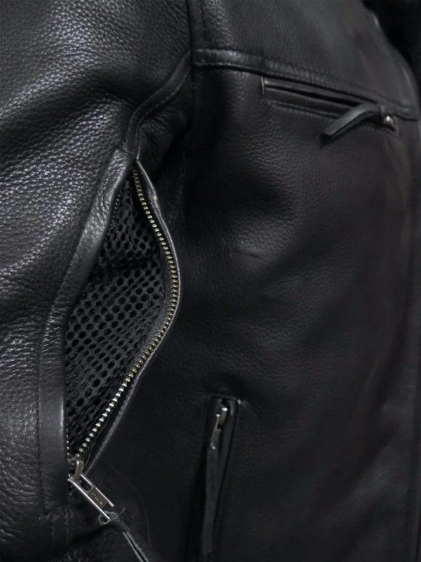 Rockstar Top Performer Men's Black Leather Jacket