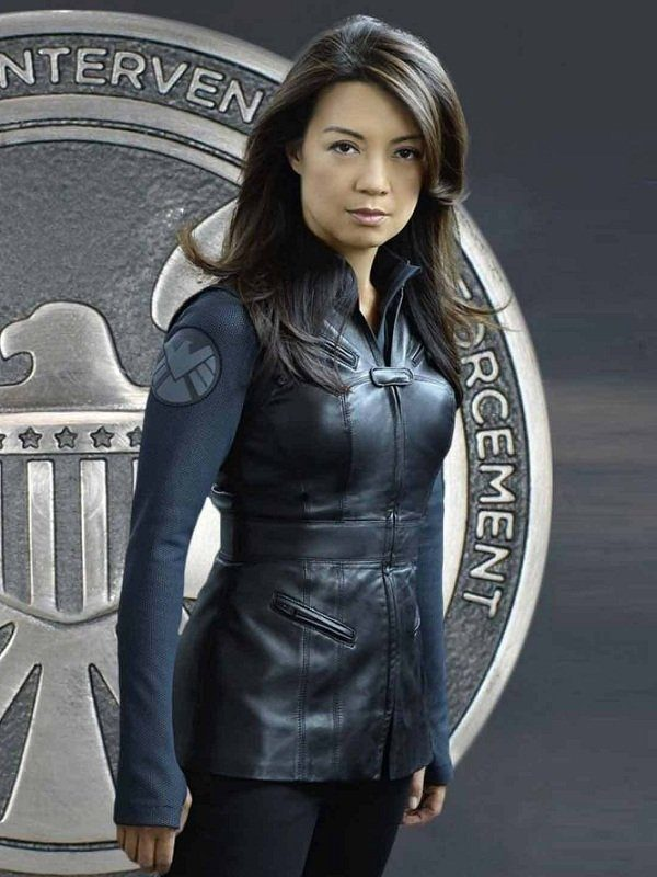 Agents Of Shield Riley Go Black Leather Vest