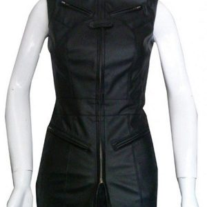 Agents Of Shield Riley Go Black Leather Vest front