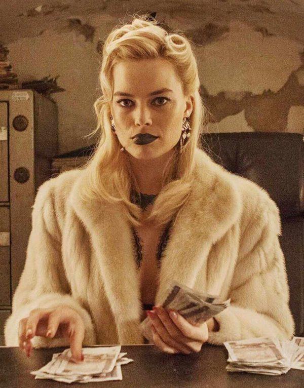 Annie Terminal Margot Robbie Fur Faux White Coat