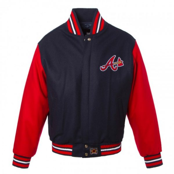 Baseball Atlanta Braves II Tone Varsity Wool Jacket