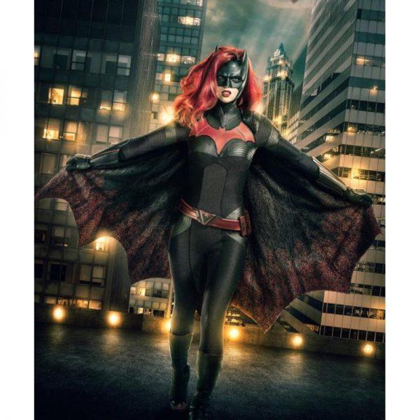 Batwoman Ruby Rose Black & Red Bomber Hoodie Jacket