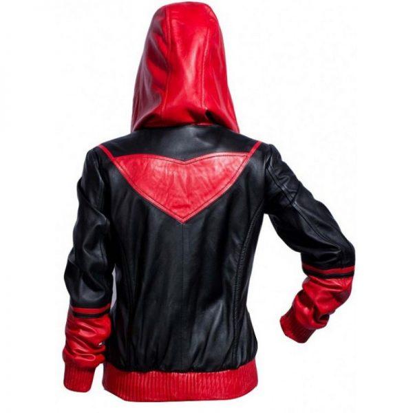 Batwoman Ruby Rose Black & Red Bomber Hoodie Jacket b