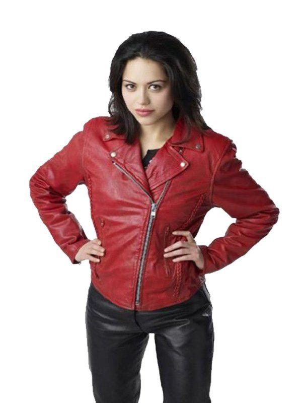 Ben 10 Alien Swarm Alyssa Diaz (Elena Validus) Biker Jacket front