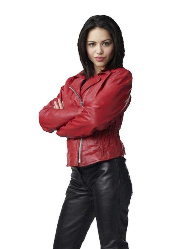 Ben 10 Alien Swarm Alyssa Diaz (Elena Validus) Biker Jacket side