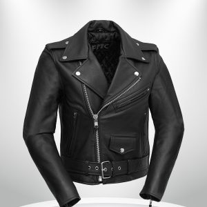 Bikerlicious Rockstar Women's Lapel Collar Black Motorcycle Leather Jacke