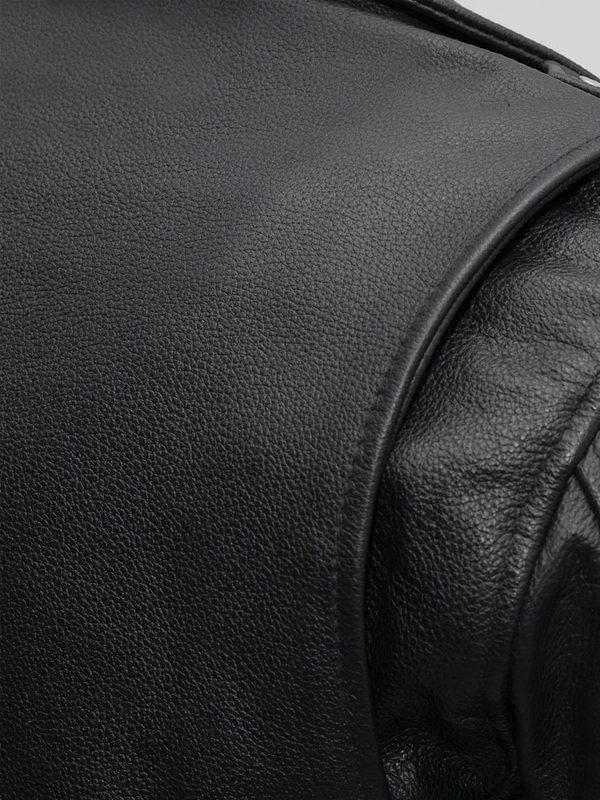 Bikerlicious Rockstar Women's Lapel Collar Black Motorcycle Leather Jacke side