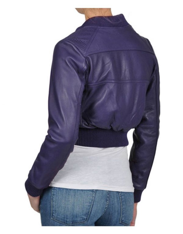 Billie Piper Doctor Who Rose Tyler Leather Jacket back