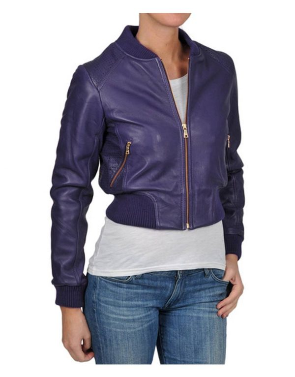 Billie Piper Doctor Who Rose Tyler Leather Jacket front