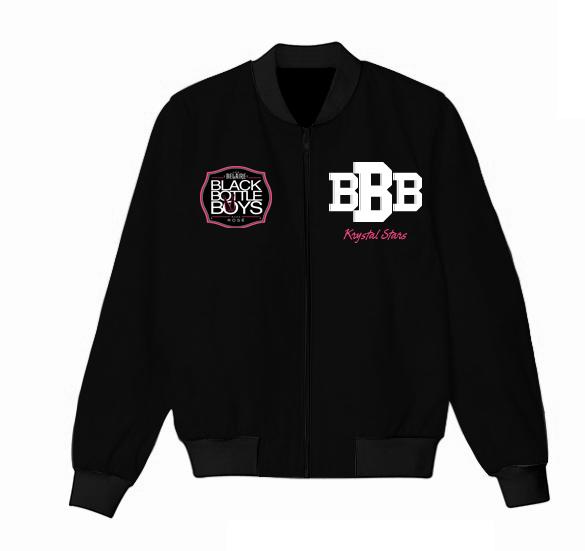 Black Bottle Boys Jacket Varsity Jacket