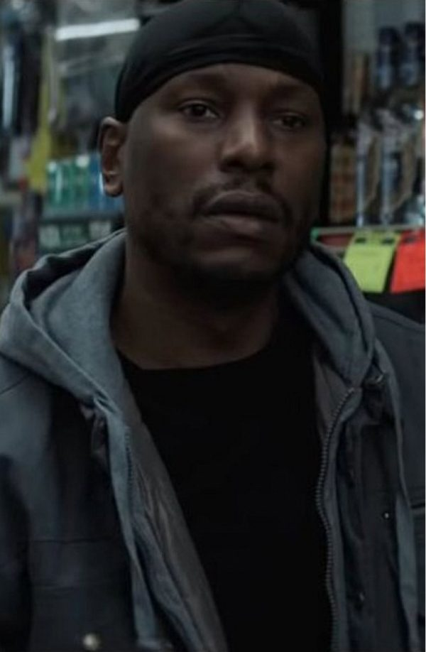 Black and Blue Tyrese Gibson Grey Hoodie Jacket