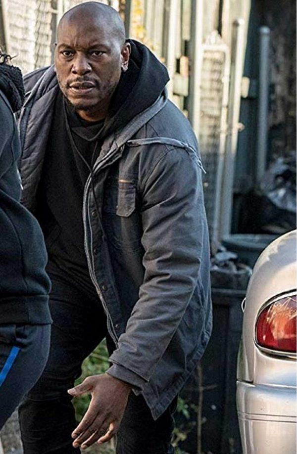 Black and Blue Tyrese Gibson Grey Hoodie Jacket f