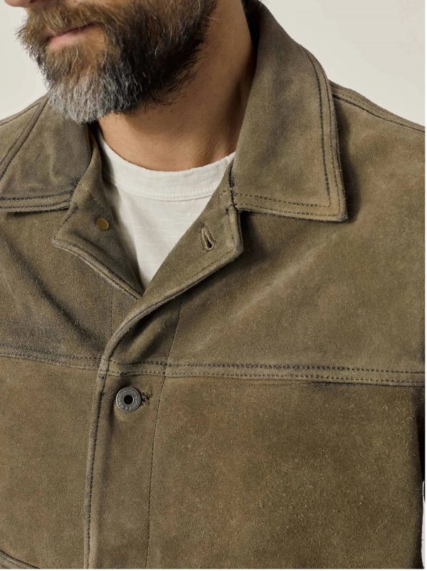 Buck Mason Interstate Vintage Suede Leather Jacket side