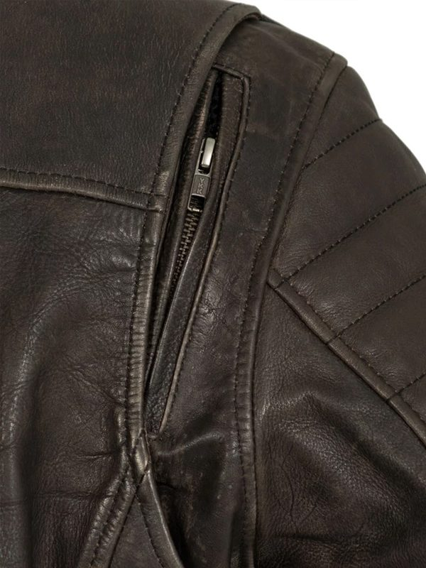 Commuter Rockstar Brown Motorcycle Leather Jacket