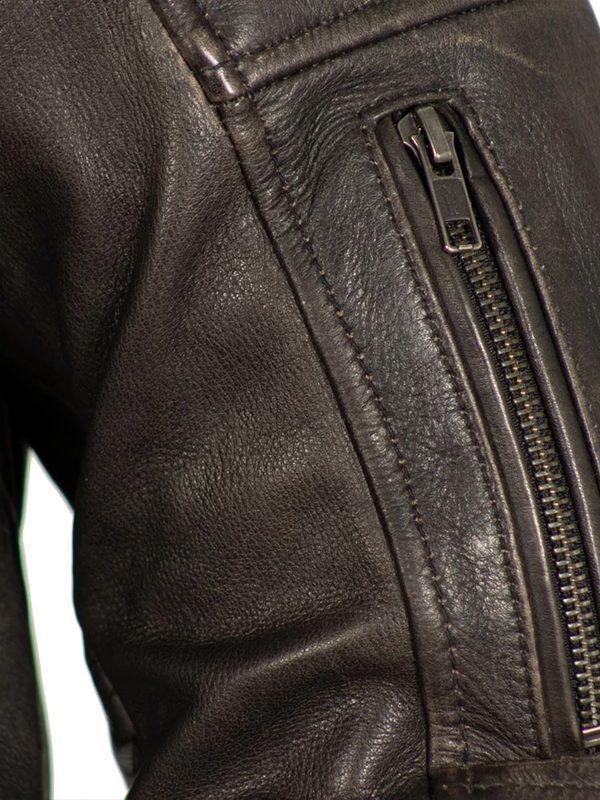Commuter Rockstar Men's Brown Motorcycle Jacket