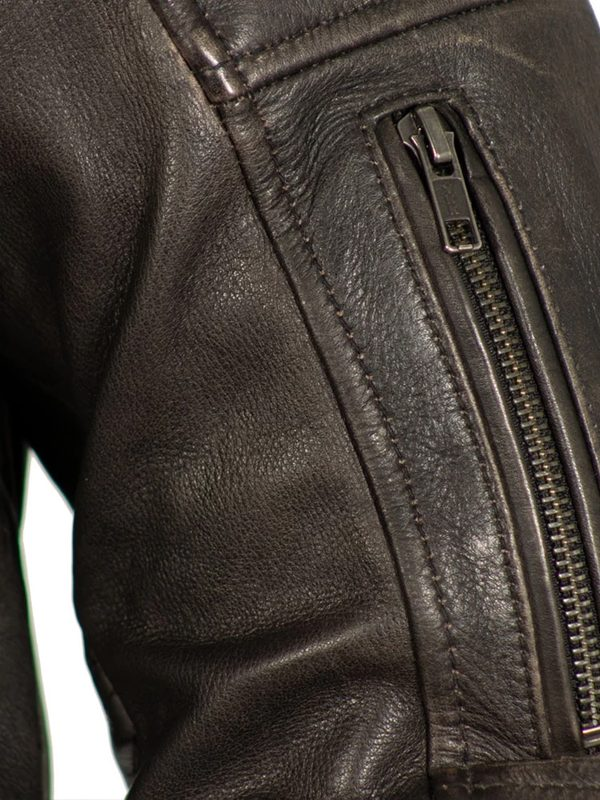 Commuter Rockstar Men's Brown Motorcycle Jacket
