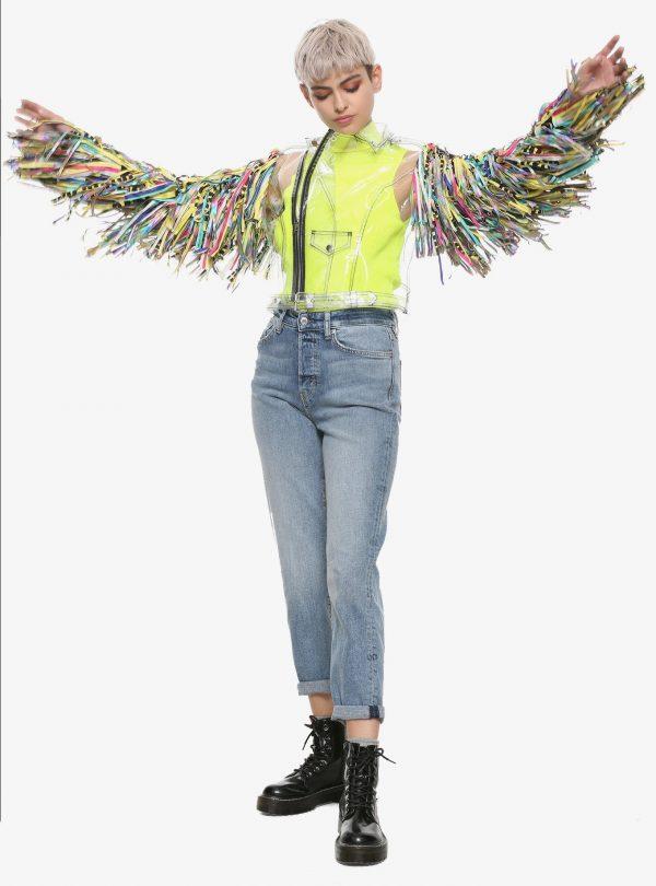 DC Comics Birds Of Prey Harley Quinn Tape Girls Cosplay Jacket