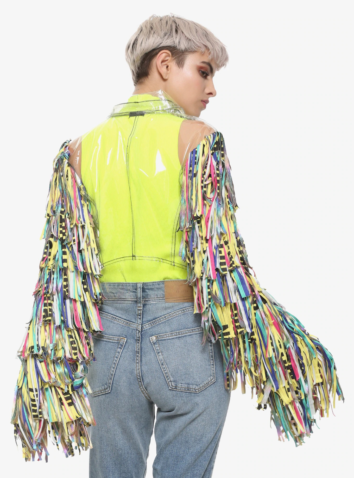 Harley Quinn Dc Comics Birds Of Prey Tape Girls Jacket Rockstar Jacket