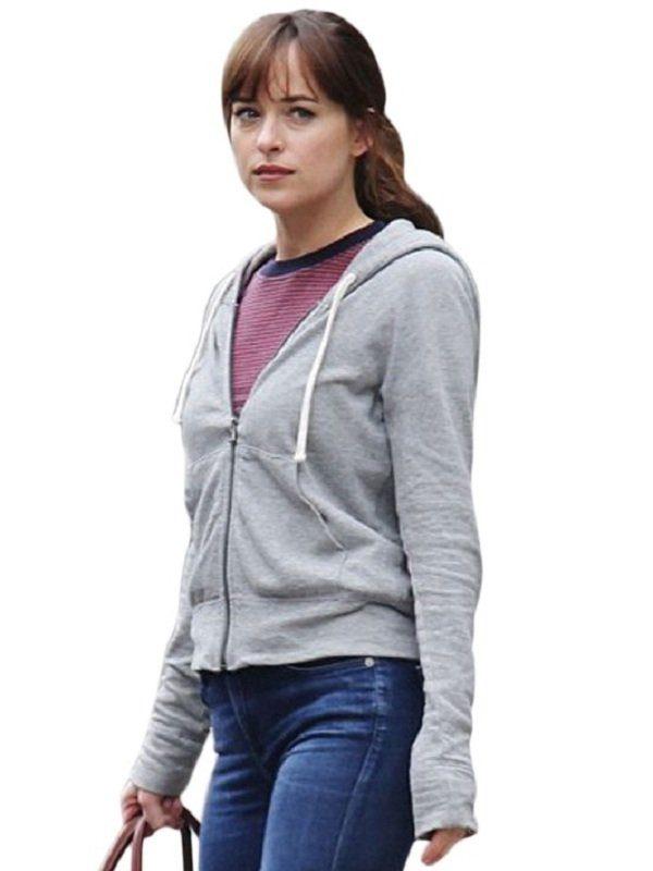 Dakota Johnson Fifty Shades Freed Bomber Hoodie Jacket