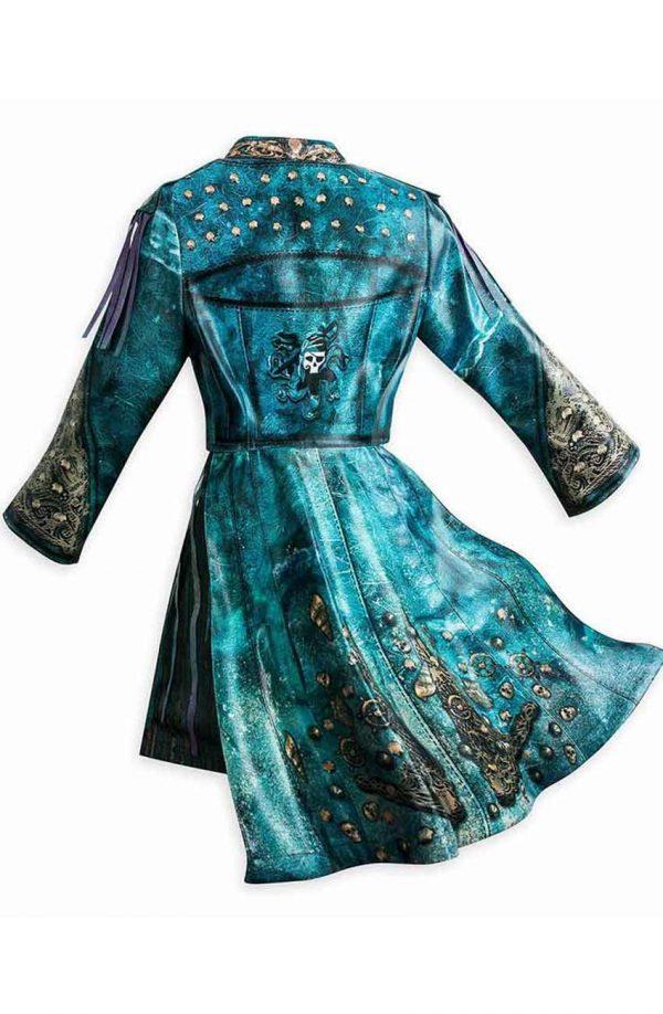 Descendants 3 Uma Blue Leather Costume Jacket back