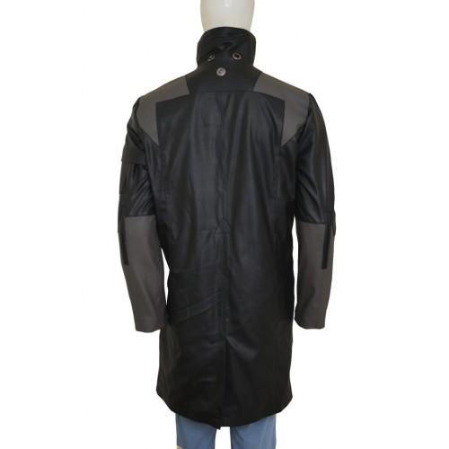Deus Ex Mankind Divided Adam Jensen Black Long Coat b
