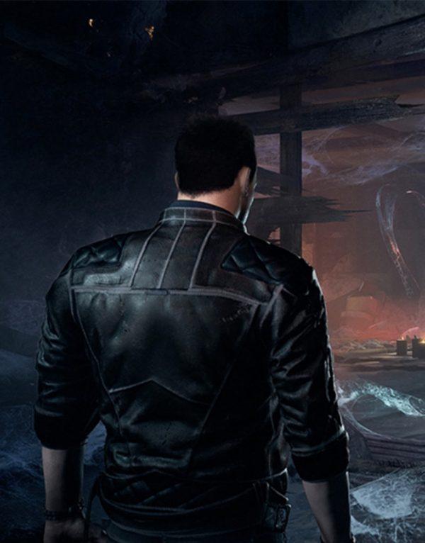 Devil's Hunt Quilted Leather Jacket back