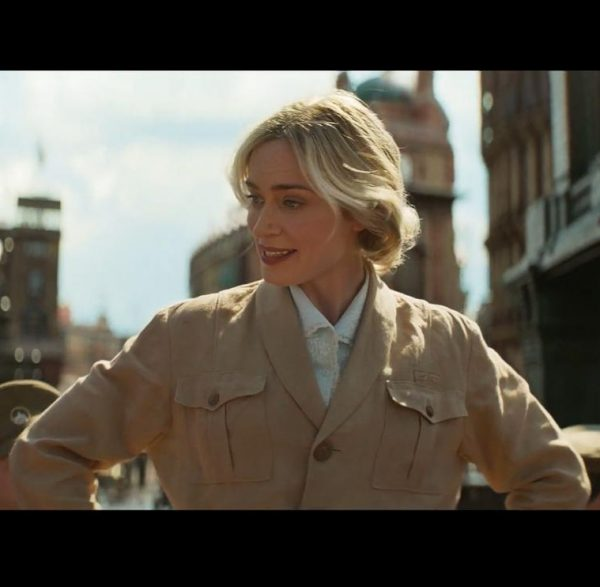 Emily Blunt Jungle Cruise Lily Brown Cotton Jacket