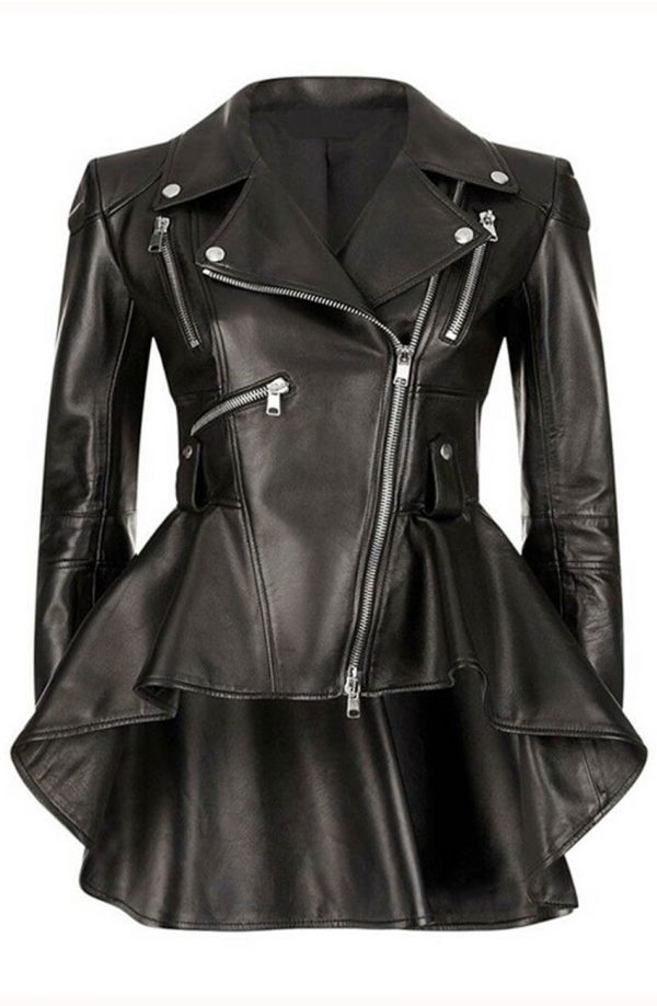 Emmy Raver The Umbrella Academy Allison Black Leather Jacket front