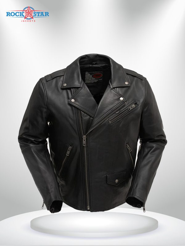 Enforcer Men's Rockstar Motorcycle Leather Jacket