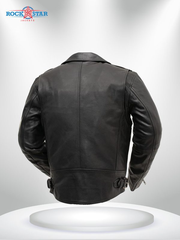 Enforcer Men's Rockstar Motorcycle Leather Jacket back