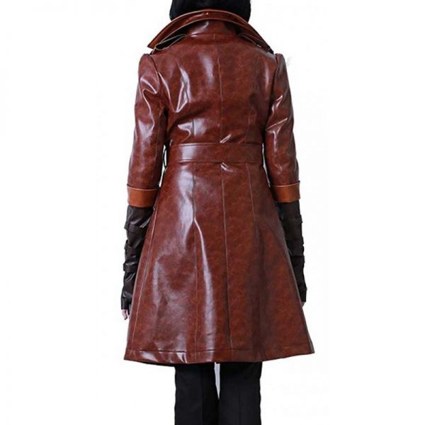 Fallout 4 Piper Wright Brown Long Coat back