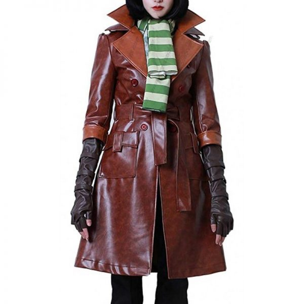 Fallout 4 Piper Wright Brown Long Coat front
