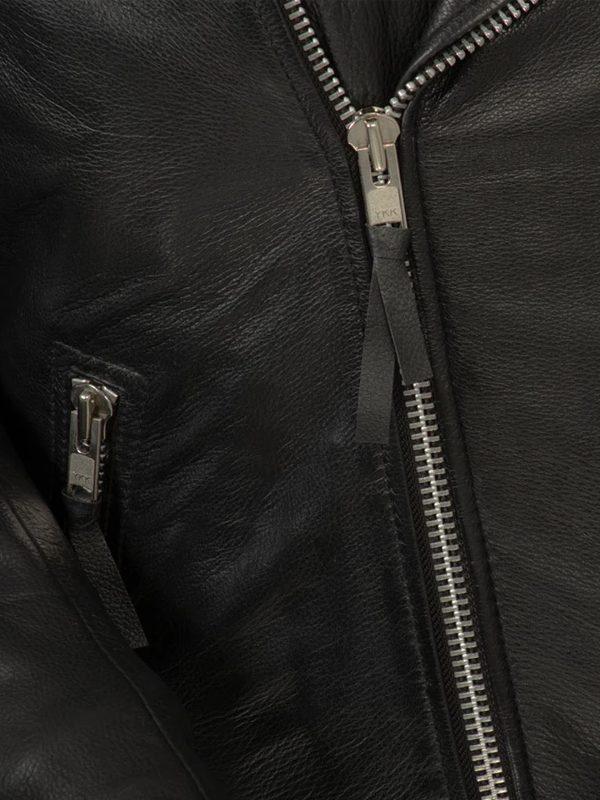 Fillmore Rockstar Men's Motorcycle Black Leather