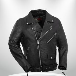 Fillmore Rockstar Men's Motorcycle Black Leather Jacket