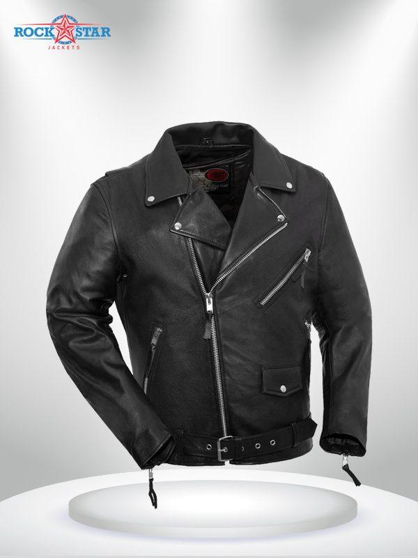 Fillmore Rockstar Men's Motorcycle Black Leather Jacket