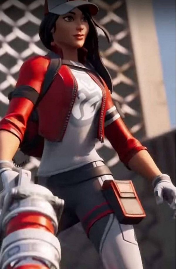 Fortnite Chapter 2 Red Leather Jacket full