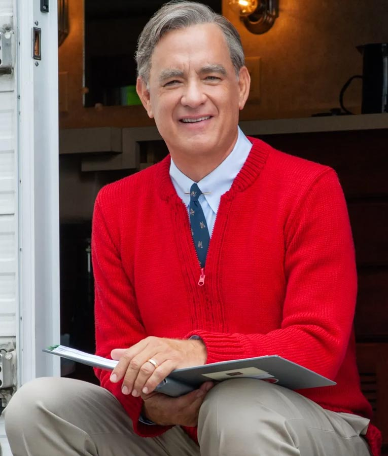 Tom Hanks A Beautiful Day In The Neighborhood Red Jacket