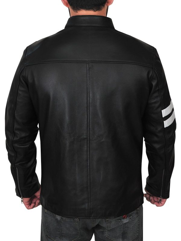 Game Driver John Tanner White Strips Cosplay Jacket back