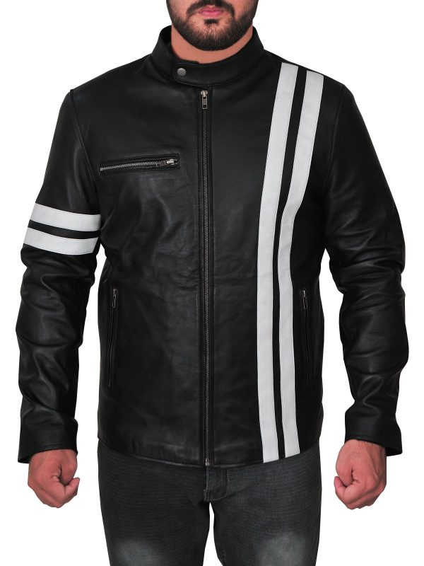 Game Driver John Tanner White Strips Cosplay Jacket front