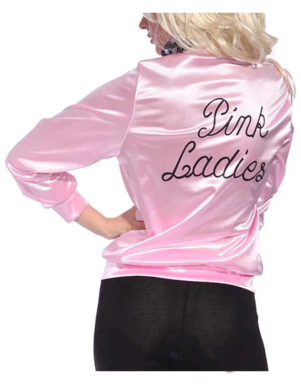 Grease Pink Ladies Michelle Pfeiffer Satin Jacket back