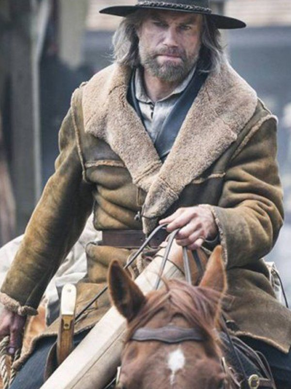 Hell On Wheels Anson Mount Shearling Suede Leather Coat