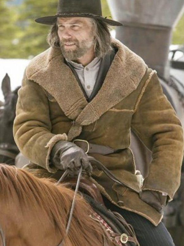 Hell On Wheels Anson Mount Shearling Suede Leather Coat back