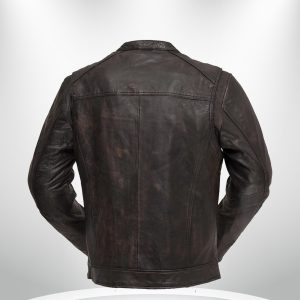 Hipster Rockstar Men's Brown Motorcycle Leather Jacket