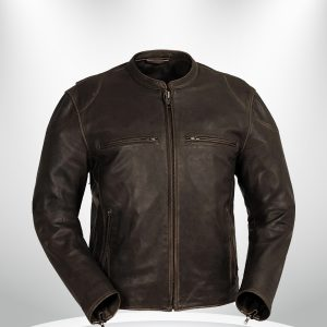 Indy Rockstar Motorcycle Men's Brown & Black Leather Jacket