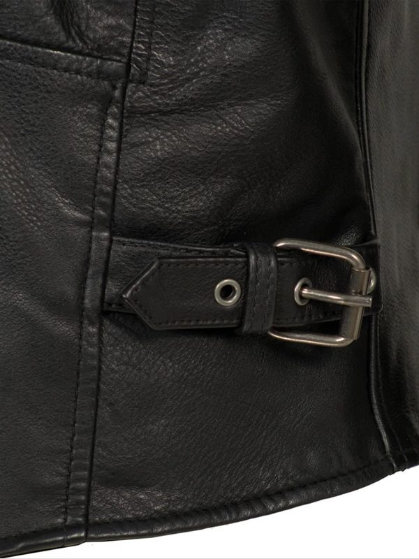 Indy Rockstar Motorcycle Men's Brown & Black Leather Jacket f