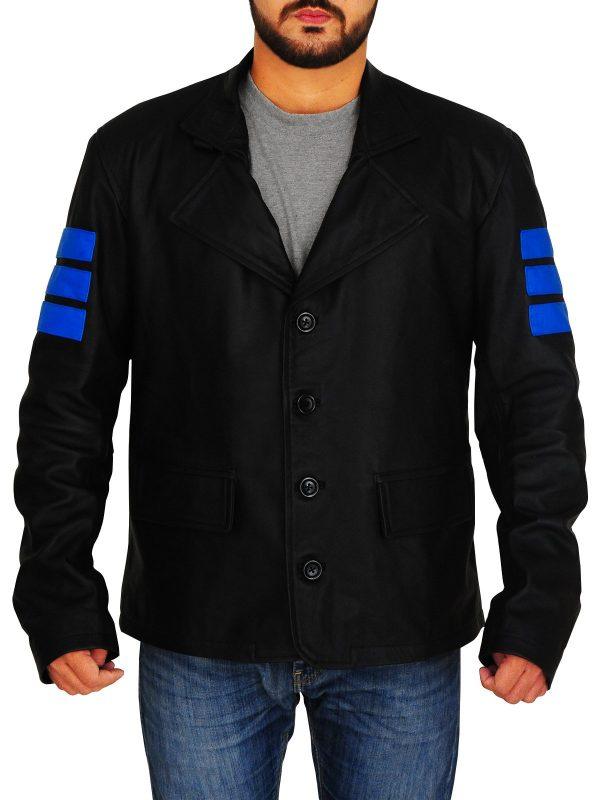 Jacknife Mirror's Edge Catalyst Black Leather Jacket front