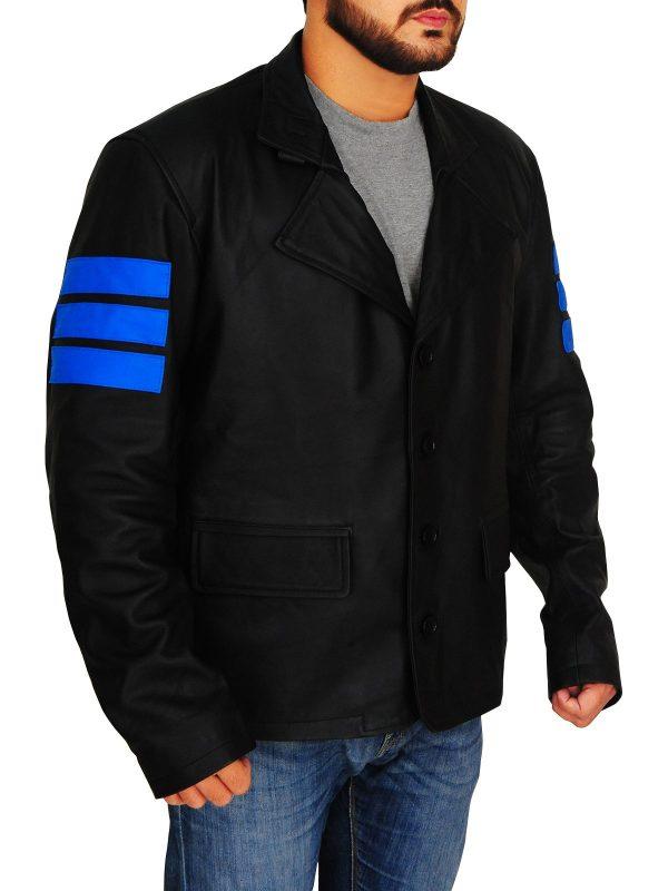 Jacknife Mirror's Edge Catalyst Black Leather Jacket side