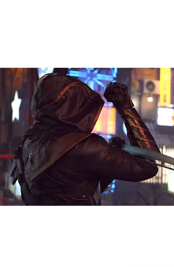 Jeremy Renner Avengers Endgame Hawkeye Black Leather Jacketg