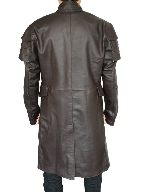 Jeremy Renner Hansel & Gretel Witch Hunters Brown Coat back